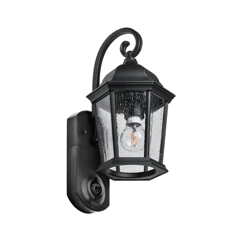 Maximus Video Security Camera & Outdoor Light - Coach Black - Compatible with Alexa by KUNA