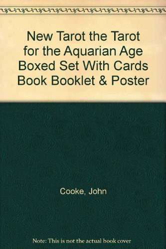 New Tarot the Tarot for the Aquarian Age Boxed Set With Cards Book Booklet & Poster