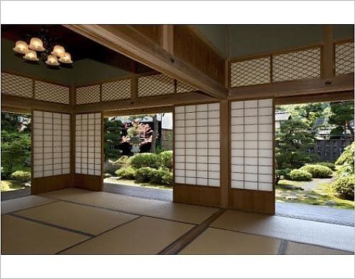 Diseño de of View horizontal de jardín en la Kyu Uchiyamake ...