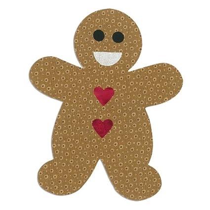 Sizzix 660176 Fustella Bigz L Gingerbread Man di Rachael Bright, ABS Plastic, 24.2x15.2x1.9 cm Ellison