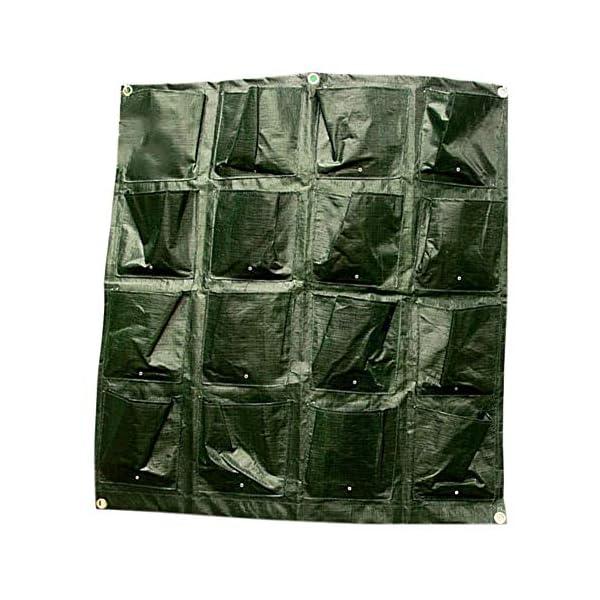 Tasche per Coltivazione, Tasche per Piante, Orto da Parete Verticale Giardino Vivente Beauty Planting Bag Colture per… 7 spesavip