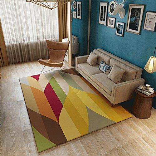 (AILI Fashion Color Carpet, Creative Stripe Flannel Super Soft wash mat, Living Room, Bedroom (Size : 140200cm-a))