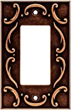 BRAINERD 64277 French Lace Single Decorator Wall Plate / Switch Plate / Cover, Sponged Copper