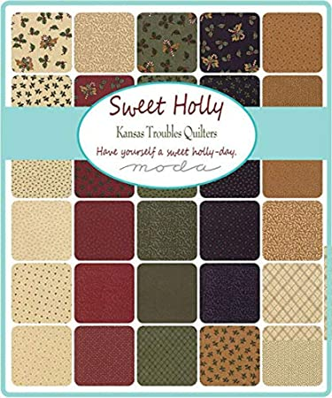 "Sweet Holly Moda Mini Charm Pack 42 100/% Cotton 2.5/"" Precut Quilt Squares"