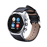 RG Black Leather Band Blutooth Smart Watch For Android Phone Support Heart Rate Monitor Fitness Tracker Smartwatch Waterproof Wrist Watches(Not Support IOS System)