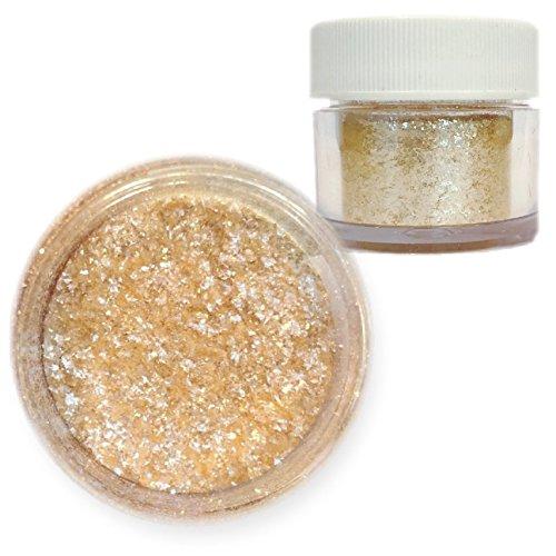 Champagne Gold / Cream Beige Edible Tinker Dust Edible Glitter 5g Jar | Bakell Food Grade Gourmet Dessert, Foods, Drink Garnish | Pearlized Shimmer Sparkle Sprinkle