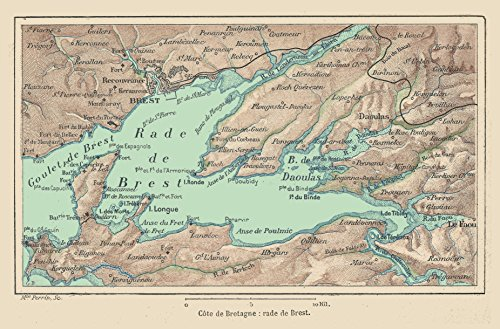 Home Comforts LAMINATED POSTER Map of France & Colonies-1894-rade de Brest POSTER 24x16 Adhesive Decal