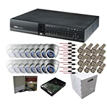 16CH A PACKAGE - Complete system with DVR, Cameras, hard drive, cable!