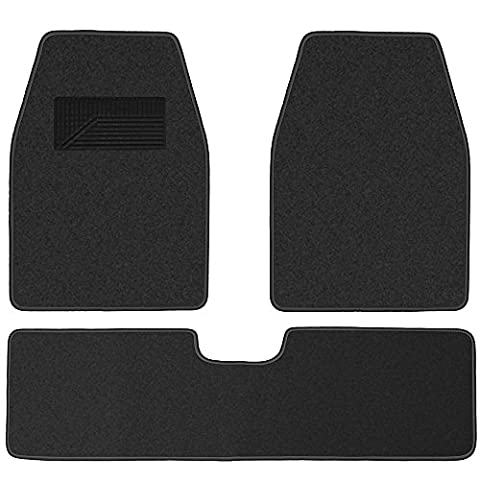 OxGord Weather Resistant 3pc Carpet Floor Mat Set For Trucks, Vans, and SUVs Charcoal Gray - Country Van Carpet