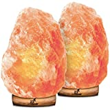 ArtNaturals Himalayan Rock Salt Lamp - Hand Carved Pink Crystal from Pure Salt in the Himalayas - for Rest, Relaxation and Energy - Real Wooden Base