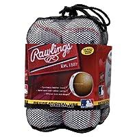 Pelotas de béisbol de uso recreativo de la liga oficial de Rawlings, bolsa de 12, OLB3BAG12