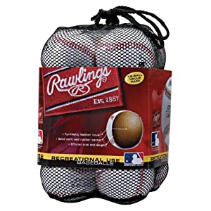 Rawlings Official League Recreational Use Baseballs, Bag of 12, MENOLB3BAG12
