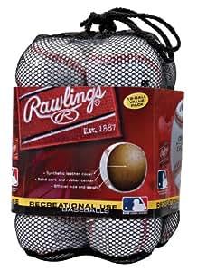 Rawlings Official League Recreational Use Baseballs, Bag of 12, OLB3BAG12