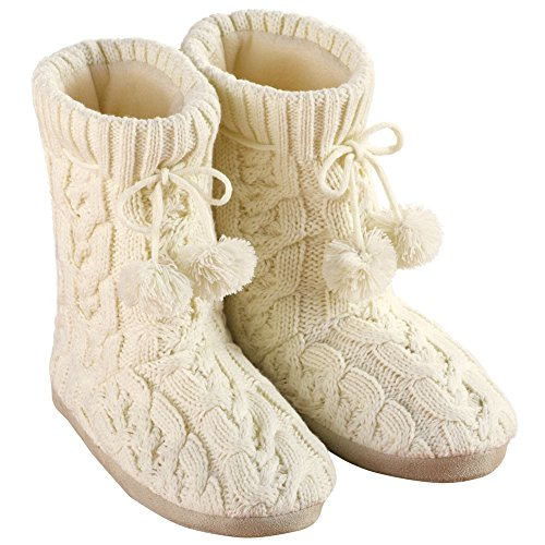 Womens Cable Booties Acrylic Polyester