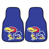 Fanmats NCAA University of Kansas Jayhawks Nylon Face Carpet Car Mat