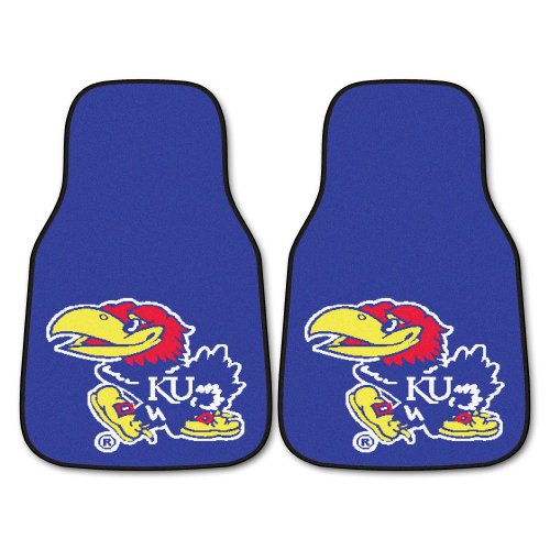 - Fanmats NCAA University of Kansas Jayhawks Nylon Face Carpet Car Mat