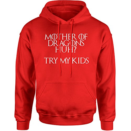 Hoodie Mother of Dragons Mothers Day Funny Adult Small Red