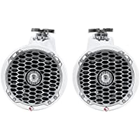Pair Rockford Fosgate PM2652W 6.5 340 Watt Marine Wakeboard Tower Speakers White