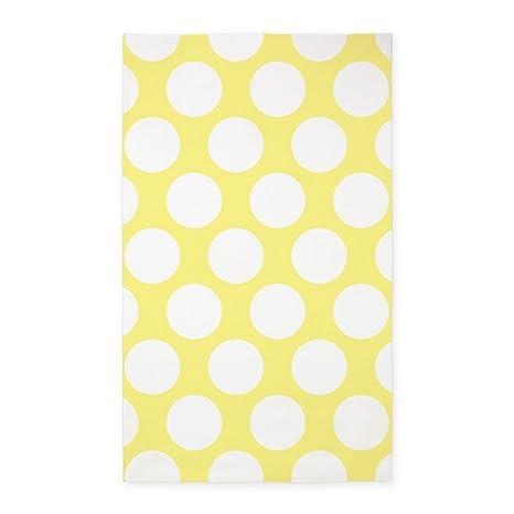 a212239d444 Amazon.com: CafePress Bright Yellow Polkadot 3'X5' Decorative Area Rug,  Fabric Throw Rug: Kitchen & Dining
