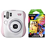 Fujifilm Instax Mini 26 + Rainbow Film Bundle - Pink/White