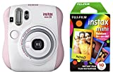 Fujifilm Instax Mini 26 + Rainbow Film Bundle - Rosa / Blanco