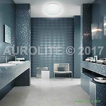 AUROLITE - Luces LED superdelgadas de 32 W IP44, diámetro de 38 cm, 4000 K, 2800 lm, impermeable, iluminación para baño, cocina, pasillo, oficina, ...