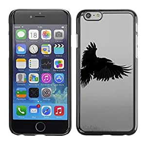 Design for Girls Plastic Cover Case FOR Apple Iphone 6 Plus 5.5 Raven Death Deep Writing Nature Bird OBBA