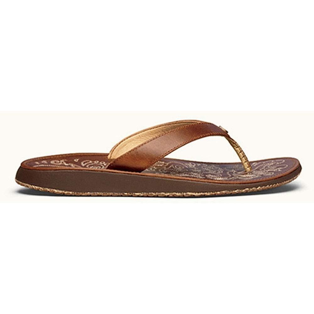 OLUKAI Women's Paniolo Thong Sandals, Natural/Natural, 9 M US by OLUKAI