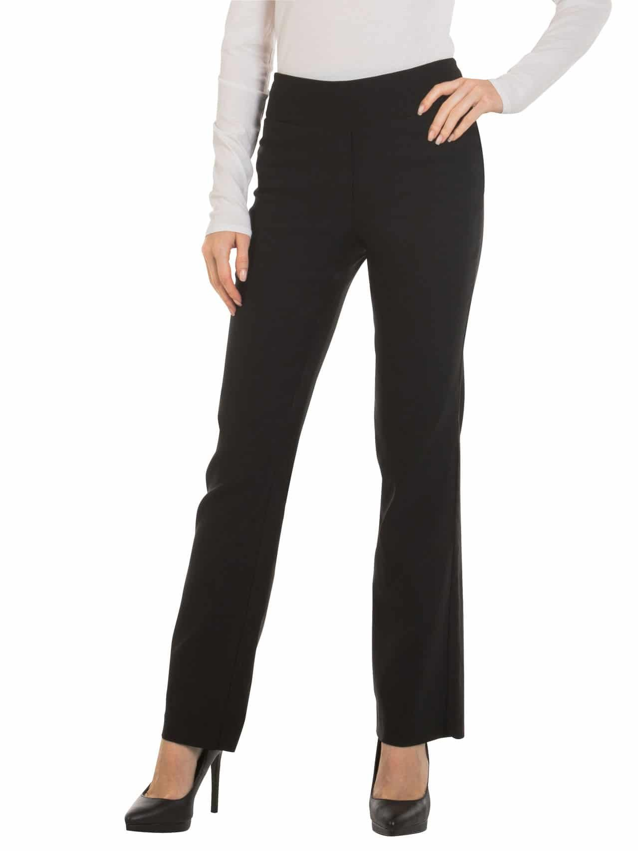 Red Hanger Bootcut Dress Pants for Women -Stretch Comfy Work Pull on Womens Pant Black-XL