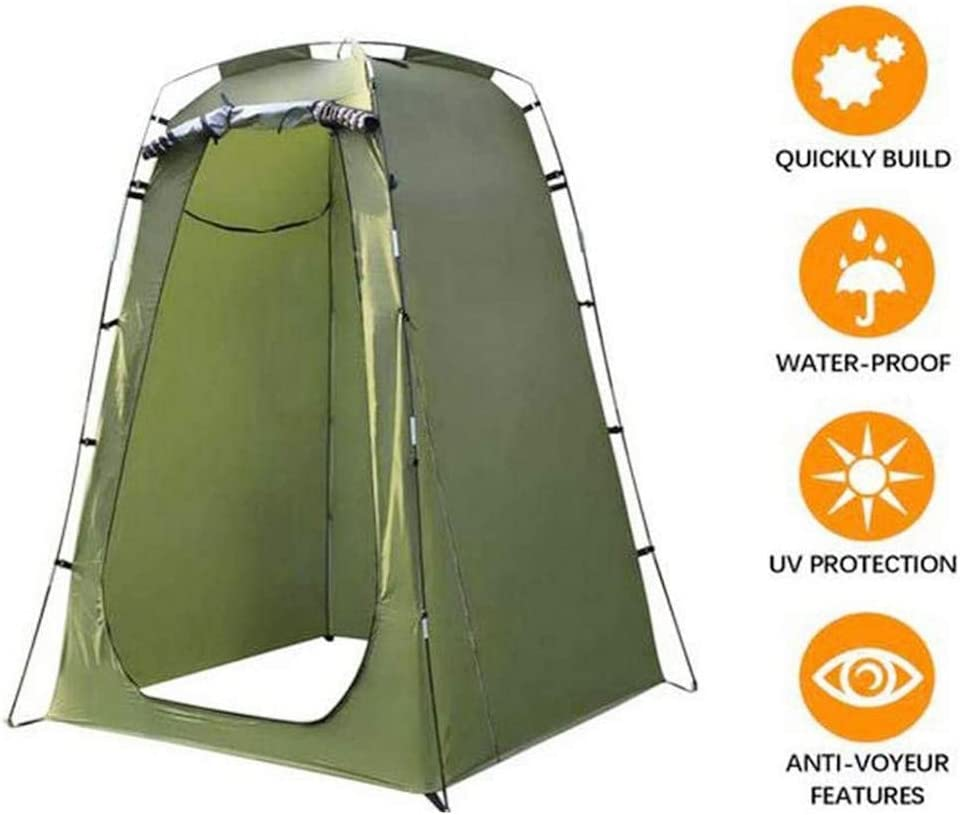 WEI DA f Outdoor Bathing Portable Shower Swimming Toilet Camp Toilet Sturdy Pop Up Pod Changing Room Privacy Tent with Carry Bag Easy Set Up Foldable Rain Shelter for Camping /& Beach