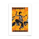 DIYthinker Dance People Mexico Totems Mexican Desktop Photo Frame Picture White Art Painting 5x7 inch