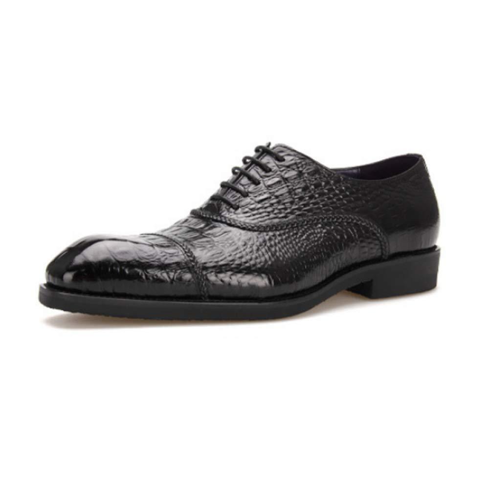 YCGCM zapatos De Hombre, Patrón De Cocodrilo, zapatos De Negocios, Casuales, Británicos, Usables, Bajos negro