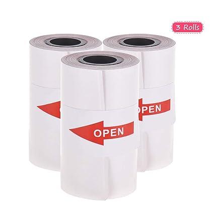 Walmeck - Rollo de papel adhesivo con autoadhesivo para impresora ...