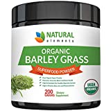 Barley Grass Powder - USDA Certified Organic Barley Grass Powder - Non-GMO, Vegan, and Non-Irradiated - Rich In Antioxidants, Protein, Fiber, Minerals, Chlorophyll, Amino Acids and Protein - 200 Grams