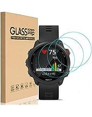HEYUS [3 Pack] for Garmin Forerunner 245 Screen Protector Glass, Ultra-Thin 9H Hardness Anti-Fingerprint Watch Tempered Glass Screen Protector for Garmin Forerunner 245 Music