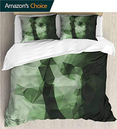 Bedding Sets Duvet Cover Set,Box Stitched,Soft,Breathable,Hypoallergenic,Fade Resistant Bedspreads Beach Theme Quilt Cover Children Comforter Cover-Geometric Low Poly Woman Portrait (79