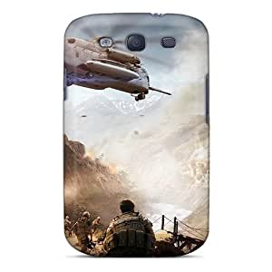 Rugged Skin Case Cover For Galaxy S3- Eco-friendly Packaging(battle)