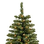 Best Choice Products 7.5ft Pre-Lit Premium Hinged Fir Pencil Artificial Christmas Tree w/ 350 Lights, Stand - Green
