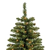 Best Choice Products 7.5 FT Pre-Lit Premium Hinged Fir Pencil Christmas Tree w/ 350 UL 588 Certified Lights, Stand