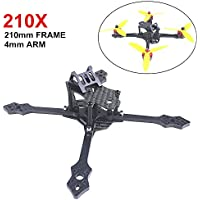 Blackbird 210mm FPV Racing RC Drone Frame Kit 5mm Arm Carbon Fiber for Brushless motor (2204/ 2205/ 2206) by Crazepony