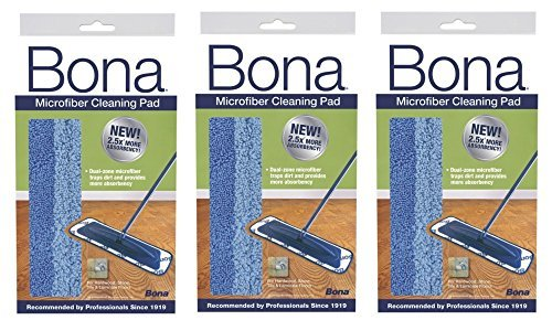 Bona Microfiber Cleaning Pad (3 Pack) ,Bona -reqg ()
