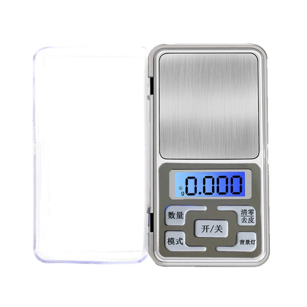 Houkiper Básculas Electrónicas de Mini Bolsillo Balanzas Digitales (de precisión a 0.01 g) para Pesaje de Especias de Perlas Doradas (MAX 200g): Amazon.es: ...