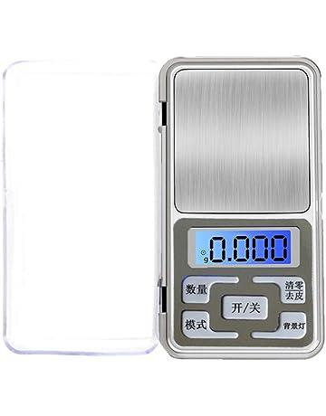 Houkiper Básculas Electrónicas de Mini Bolsillo Balanzas Digitales (de precisión a 0.01 g) para