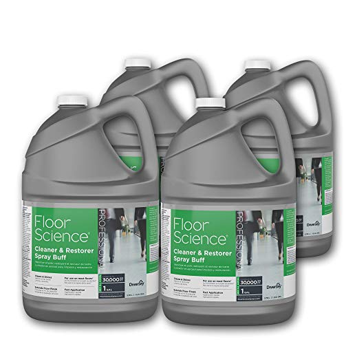 Floor Science Cleaner - Diversey Floor Science Professional Cleaner and Restorer Spray Buff, 1 Gallon - Covers up to 30,000 SQ FT (4 Pack)
