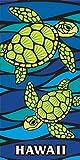 Island Home Hawaii Style Beach Towel Blue Honu Turtle Sea Glass