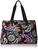 Vera Bradley Women's Triple Compartment Travel Bag, Kiev Paisley Black