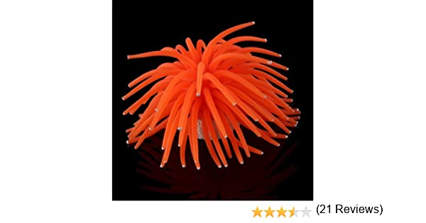 Coral Plástico Artificial Decoración para Acuario Pecera Peces Color Naranja: Amazon.es: Hogar