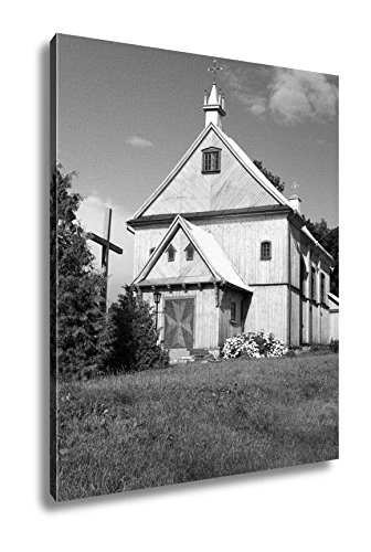 Ashley Canvas Catholic Church Belarus, Home Office, Ready to Hang, Black/White 25x20, AG5594725 by Ashley Canvas