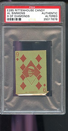 1933 E285 Rittenhouse Candy 9 Of Diamonds Al Simmons PSA A Graded Baseball Card (Diamond Collection Baseball Box)