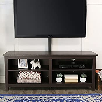 home source industries tv11303 hardwood tv stand with mount and shelving cabinets. Black Bedroom Furniture Sets. Home Design Ideas